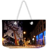 Belgium Street Art Weekender Tote Bag by Juli Scalzi