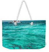 Belize Turquoise Shark N Sail  Weekender Tote Bag