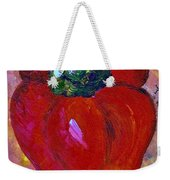 Red Bell Pepper Takes Center Stage Weekender Tote Bag