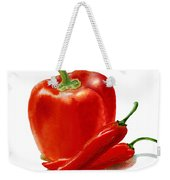 Bell Pepper With Chili Peppers Weekender Tote Bag