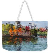 Bell Tower At The Botanic Gardens In Autumn Weekender Tote Bag