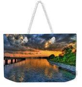 Belle Isle Pier Sunset Detroit Mi Weekender Tote Bag