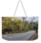 Bells Mill Road In Autumn Weekender Tote Bag