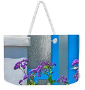 Belmont Shore Blue Weekender Tote Bag