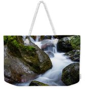 Below Rainier Weekender Tote Bag by Chad Dutson