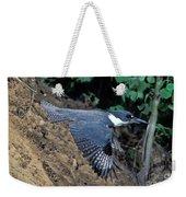 Belted Kingfisher Leaving Nest Weekender Tote Bag