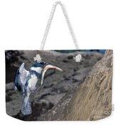 Belted Kingfisher With Prey Weekender Tote Bag