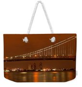Ben Franklin Bridge Giant Panorama Weekender Tote Bag