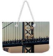 Ben Franklin Bridge Over Delaware River Weekender Tote Bag