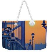 Ben Franklin Bridge Walkway Weekender Tote Bag