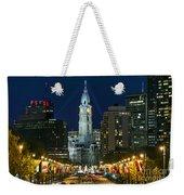 Ben Franklin Parkway And City Hall Weekender Tote Bag
