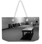 Bench Alone In Pre-show Gallery Weekender Tote Bag