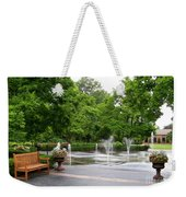 Bench And Fountain Weekender Tote Bag