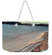 Bench And Table  Weekender Tote Bag