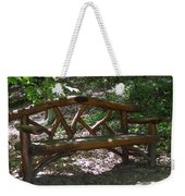 Bench Made Of Tree Branches Weekender Tote Bag