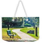 Bench In A Park With A Walkway Weekender Tote Bag