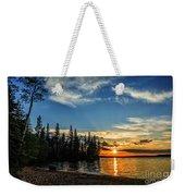 Beautiful Sunset At Waskesiu Lake Weekender Tote Bag