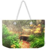 Bench - Privacy  Weekender Tote Bag by Mike Savad