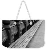 Bench Row Black And White Weekender Tote Bag