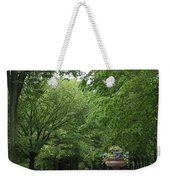 Bench Rows In Central Park  Nyc Weekender Tote Bag