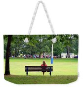 Bench Thoughts Weekender Tote Bag