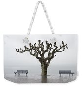 Benches And Tree Weekender Tote Bag