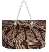 Benches At Meteor Crater In Arizona Weekender Tote Bag