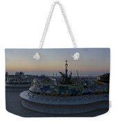 Benches At Parc Guell Weekender Tote Bag