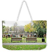 Benches By The Cemetery Weekender Tote Bag