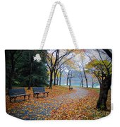 Benches Of Fall Weekender Tote Bag