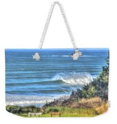 Benches On The Beach Weekender Tote Bag