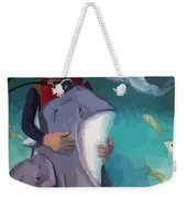 Benevolent Creatures At Stingray City Weekender Tote Bag