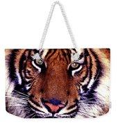 Bengal Tiger Eye To Eye Weekender Tote Bag
