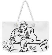 Benito Mussolini Cartoon Weekender Tote Bag