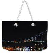 Benjamin Franklin Bridge At Night Panarama Weekender Tote Bag