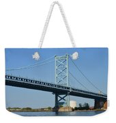 Benjamin Franklin Bridge Weekender Tote Bag