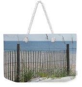 Bent Beach Fence Weekender Tote Bag