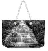 Benton Falls In Black And White Weekender Tote Bag