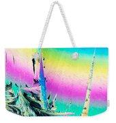Benzoic Acid Microcrystals Coloful Abstract Art Weekender Tote Bag