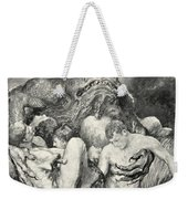 Beowulf Print Weekender Tote Bag by John Henry Frederick Bacon