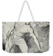 Beowulf Shears Off The Head Of Grendel Weekender Tote Bag by John Henry Frederick Bacon