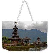 Beratan Island Temple Weekender Tote Bag