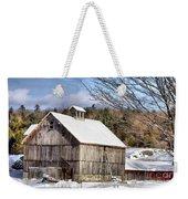 Berkshire Barn In Winter Weekender Tote Bag