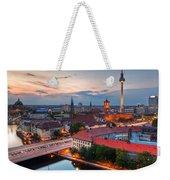 Berlin Germany Major Landmarks At Sunset Weekender Tote Bag