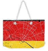Berlin Street Map - Berlin Germany Road Map Art On German Flag Background Weekender Tote Bag