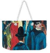 Berlin Street Scene Weekender Tote Bag by Ernst Ludwig Kirchner