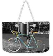 Berlin Street View With Bianchi Bike Weekender Tote Bag by Ben and Raisa Gertsberg