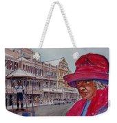 Bermuda Lady In Red And Cop Weekender Tote Bag