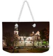 Bernandine Church At Night In Krakow Weekender Tote Bag