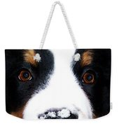 Bernese Mountain Dog - Baby It's Cold Outside Weekender Tote Bag